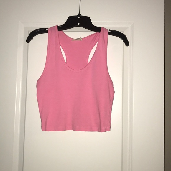 Zenana Outfitters Tops - Pink crop top